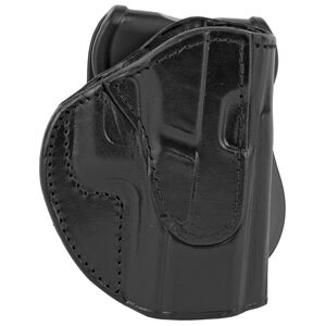 Tagua Gunleather Texas Rotating TX-PD3 OWB Paddle Holster Fits GLOCK 17/22/31 Models Right Hand Draw Open Top Leather Black