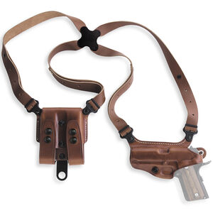 Galco Miami Classic Shoulder Holster System Fits GLOCK 17/19/26/34 Left Hand Leather Tan