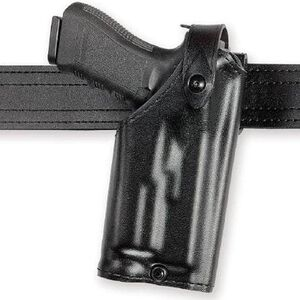 Safariland 6280 SLS Mid-Ride Glock 17, 22 w/Light Level 2 Retention Right Hand Thermal-Molded Plain Black 6280-832-61
