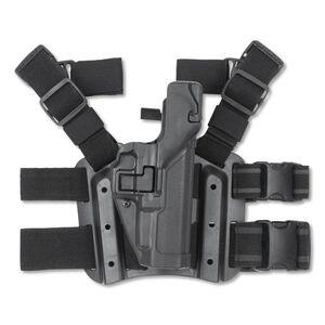 BLACKHAWK! Level 3 SERPA Springfield Armory XD/XDM Tactical Leg Holster Right Hand Kydex Black 430607BK-R