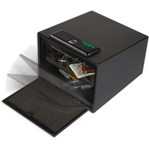 Bulldog Biometric Fingerprint Pistol Vault Magnum with Shelf Black