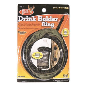 HME Products Drink Holder Ring with Tree Screw Steel/Nylon Black/Brown DHRB
