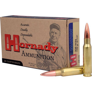 Hornady .308 Winchester Ammunition 20 Rounds Match BTHP 178 Grains 8105