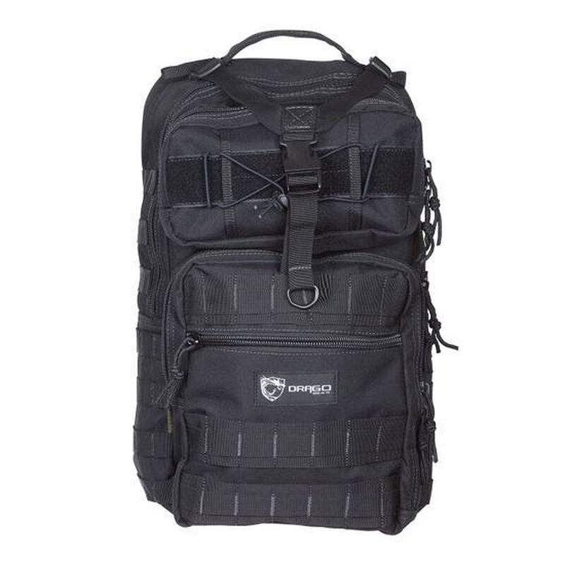 "Drago Gear Atlus Sling Backpack 600D Polyester 19"" x 11"" x 10"" Black 14308BL"