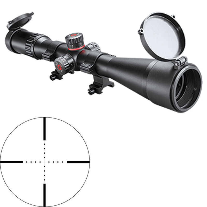 Simmons ProTarget 6-24x44 Riflescope Non-Illuminated Mil-Dot Reticle 30mm Tube Exposed Turrets .1 Mil Adjustments Second Focal Plane Side Parallax Adjustment Matte Black Finish