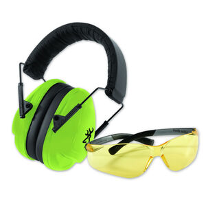 Browning Junior Range Kit Eye and Hearing Protection 19dB Green/Black126371