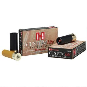 "Hornady Custom Lite 20 Gauge Ammunition 5 Rounds 2.75"" FTX Slug 250 Grains 86233"