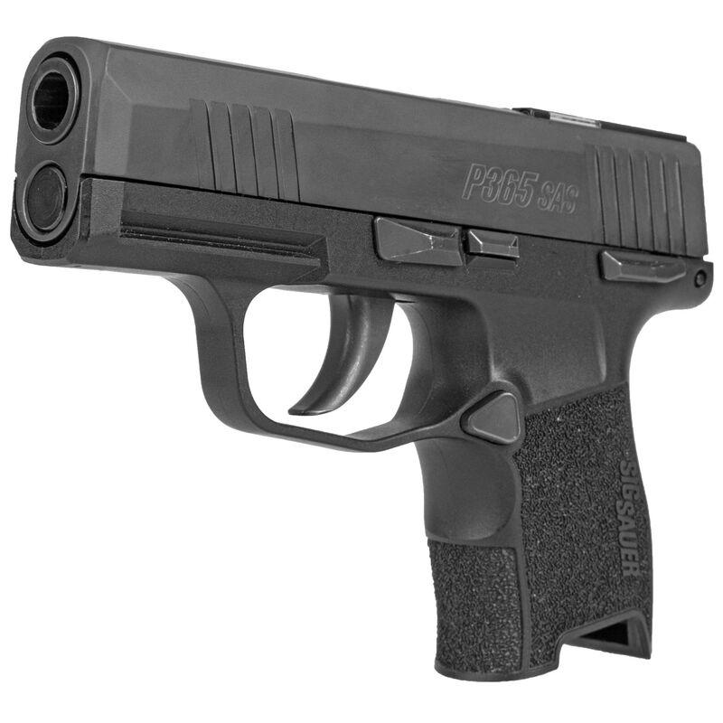 "SIG Sauer P365 SAS 9mm Luger Semi Auto Pistol 3.1"" Barrel 10 Rounds Flush Mounted FT Bullseye Sights Polymer Frame Matte Black Finish"