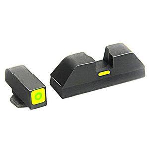 AmeriGlo CAP Night Sight GLOCK 17/19/22/23/24/26/27/33/34/35/37/38/39 Green Outline Front Green Rear Steel GL-614