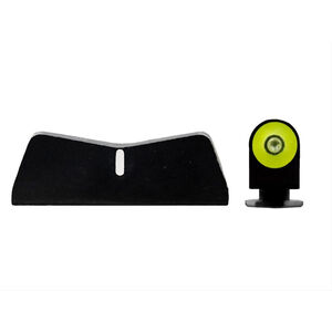 XS Sights DXW2 Big Dot Standard Height Sights for Glock 42/43/43X & 48 Yellow Front Sight