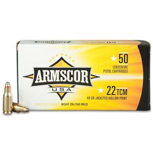 Armscor USA .22 TCM Ammunition 50 Rounds, JHP, 40 Grain