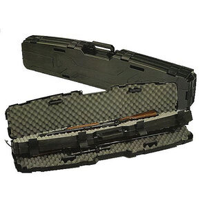 """Plano Pro-Max Side By Side Scoped Rifle Case 53"""" Length PillarLock Crush Resistant Heavy Duty Latches Molded In Handle Thick Walled Construction Polymer Matte Black 151200"""