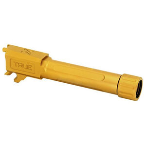 True Precision SIG Sauer P365 Threaded Drop In Replacement Barrel 9mm Luger Gold Titanium Nitride Finish