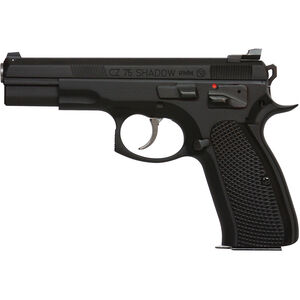 "CZ-USA 75 Shadow Tac II Semi Auto Pistol 9mm Luger 4.6"" Barrel 16 Rounds Aluminum Grips Black 91762"