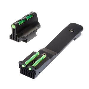 HiViz LITEWAVE Henry Rifle Fiber Optic Sight Set Red/Green/White Adjustable Rear Sight Steel Black HHVS41