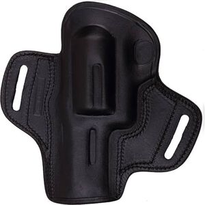 Tagua Gunleather BH3 Open Top Belt Holster For GLOCK 19, 23, 32 Right Hand Leather Black BH3-310