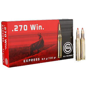 GECO .270 Winchester Ammunition 20 Rounds 130 Grain GECO Express Polymer Tip Projectile