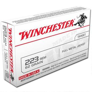 Winchester USA .223 Rem Ammunition 62 Grain FMJ 3200 fps
