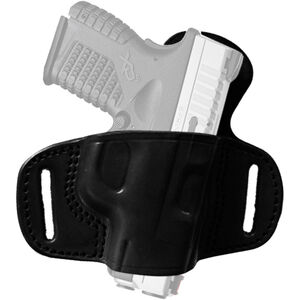 Tagua Gunleather Quick Draw Belt Holster with Extra Protection Springfield XDS Belt Holster Right Handed Leather Black