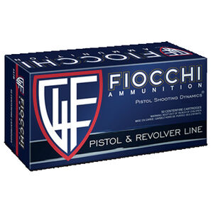 Fiocchi Pistol Shooting Dynamics .38 Special Ammunition 50 Rounds 125 Grain SJSP Projectile 970 fps