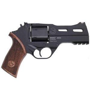 "Chiappa Rhino 40DS Double Action Revolver 9mm Luger 4"" Barrel 6 Rounds Aluminum Alloy Frame Walnut Grips Matte Black"