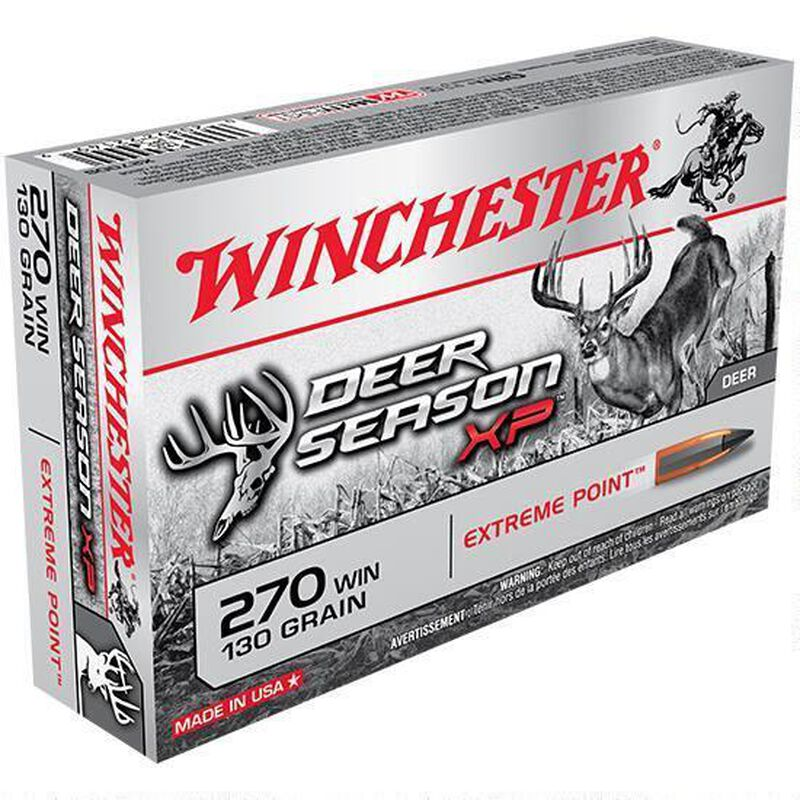 Winchester Deer Season XP .270 Win Ammunition 200 Rounds, PT, 130 Grains