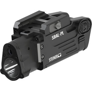 Steiner SBAL-PL Pistol Light/Laser Combo Compact 500 Lumen LED Light with Green Laser Sight Picatinny Mount Aluminum Black