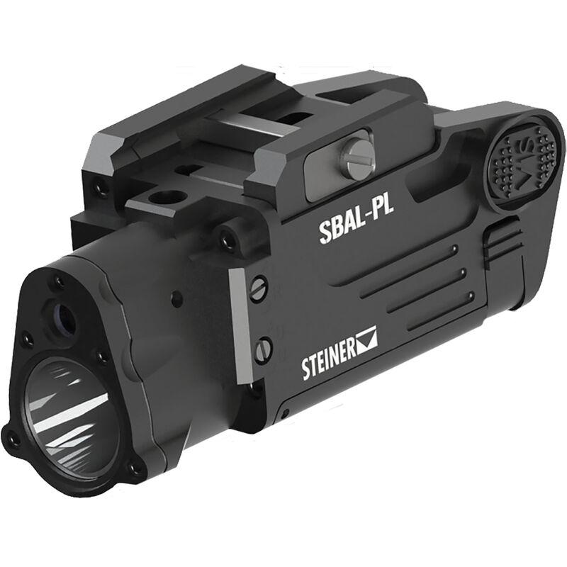 Steiner SBAL-PL Pistol Light/Laser Combo Compact 500 Lumen LED Light with Green Laser Sight Picatinny Mount Aluminum Black