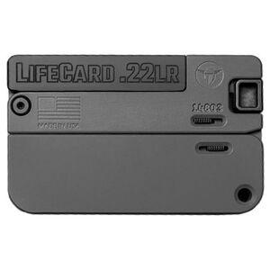 Trailblazer LifeCard .22WMR/.22LR Folding Single Shot Pistol 1 Round with 3 Round Ammo Storage Steel Barrel Bolt and Trigger Aluminum Frame Black Finish