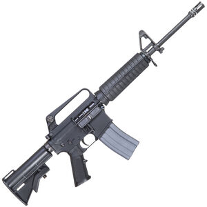 """Troy Industries USAF GUU-5/P Semi Auto Rifle 5.56 NATO 16"""" Barrel 30 Rounds Retro Slick Side Upper with Integral Carry Handle Collapsible Stock Black"""