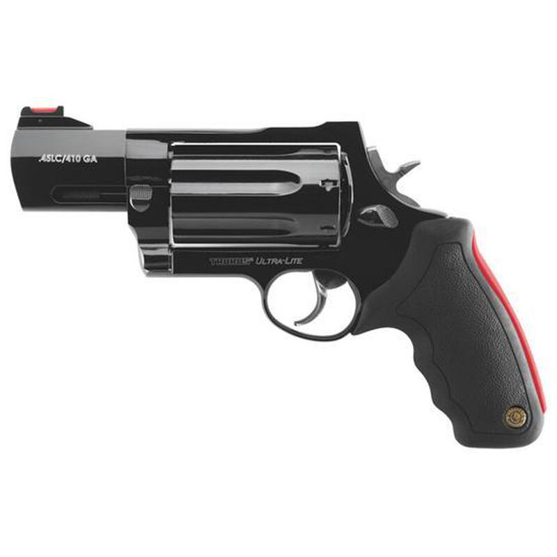 """Taurus Raging Judge Model 513 Revolver .45 Long Colt and .410 Bore 3"""" Barrel 3"""" Magnum Chamber 7 Rounds Black Rubber Grip Blued Finish"""