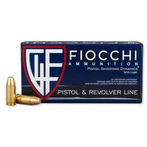 FIOCCHI 9mm Luger Ammunition 50 Rounds Subsonic FMJ 147 Grains 9APD