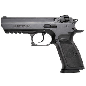 """Magnum Research Baby Desert Eagle III Full Size Semi Auto Pistol 9mm Luger 4.43"""" Barrel 10 Rounds Combat 3 Dot Fixed Sights Steel Frame Matte Black Finish"""