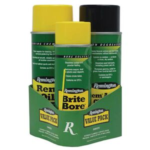 Remington Cleaning Combo Value Pack Brite Bore Rem Oil and Action Cleaner Aerosol Cans 18156