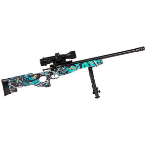 "Keystone Arms Crickett Precision Rifle Package .22 Long Rifle Single Shot Bolt Action Rimfire Rifle 16.125"" Barrel Bipod/Scope/Adjustable Synthetic Thumbhole Stock Muddy Girl Serenity"