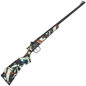 "Keystone Arms Crickett One Nation Single Shot Bolt Action Rimfire Rifle .22 LR 16.125"" Barrel US Flag Stock Blued"