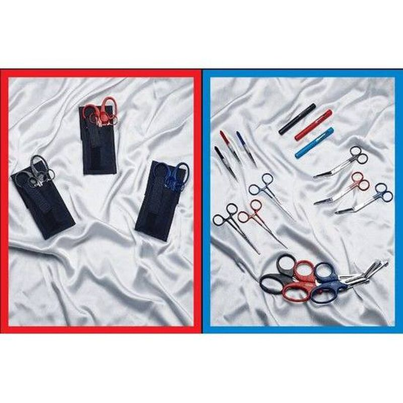 EMI Colormed Basic EMS Holster Set Black Nylon Blue 807