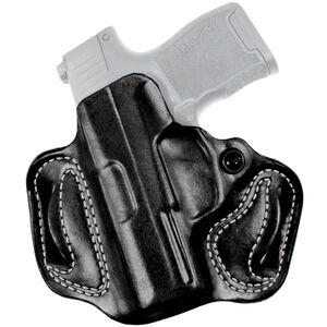 DeSantis Gunhide Mini Slide SIG P365 OWB Belt Holster Left Hand Leather Black