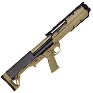 "Kel-Tec KSG Pump Action Shotgun 12 Gauge 18.5"" Barrel 3"" Chamber 12 Rounds Dual Tube Magazines Downward Ejection Ambidextrous Synthetic Stock Tan Finish"