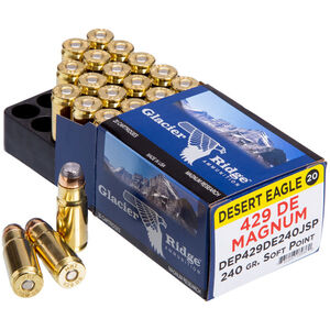 Magnum Research Glacier Ridge .429 DE Ammunition 20 Rounds JSP 240 Grain 1625fps