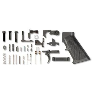 LBE Unlimited AR-15 Complete Lower Parts Kit Steel Black AR15LPKT