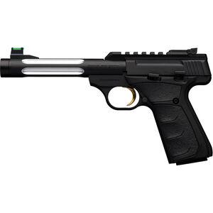 "Browning Buck Mark Plus Lite Flute UFX SR .22 LR Semi Auto Rimfire Pistol 5.5"" Threaded Fluted Barrel 10 Rounds F/O Front Sight UFX Grips Black"