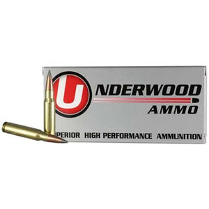 Underwood Ammo 6.5 Creedmoor Ammunition 20 Round Box 119 Grain Lehigh Defense Match Solid Flash Tip Lead Free Projectile Lead Free 2950 fps