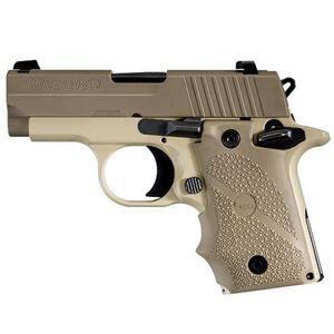 "SIG Sauer P238 Desert Semi Automatic Pistol .380 ACP 2.7"" Barrel 6 Rounds Hogue Rubber Grips Desert Tan Finish 238-380-DES"