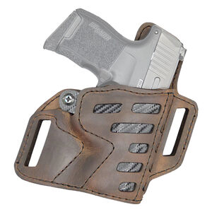 VersaCarry Compound Series OWB Holster fits Sig P365XL Right Hand Hybrid Leather / Kydex Distressed Brown C221365