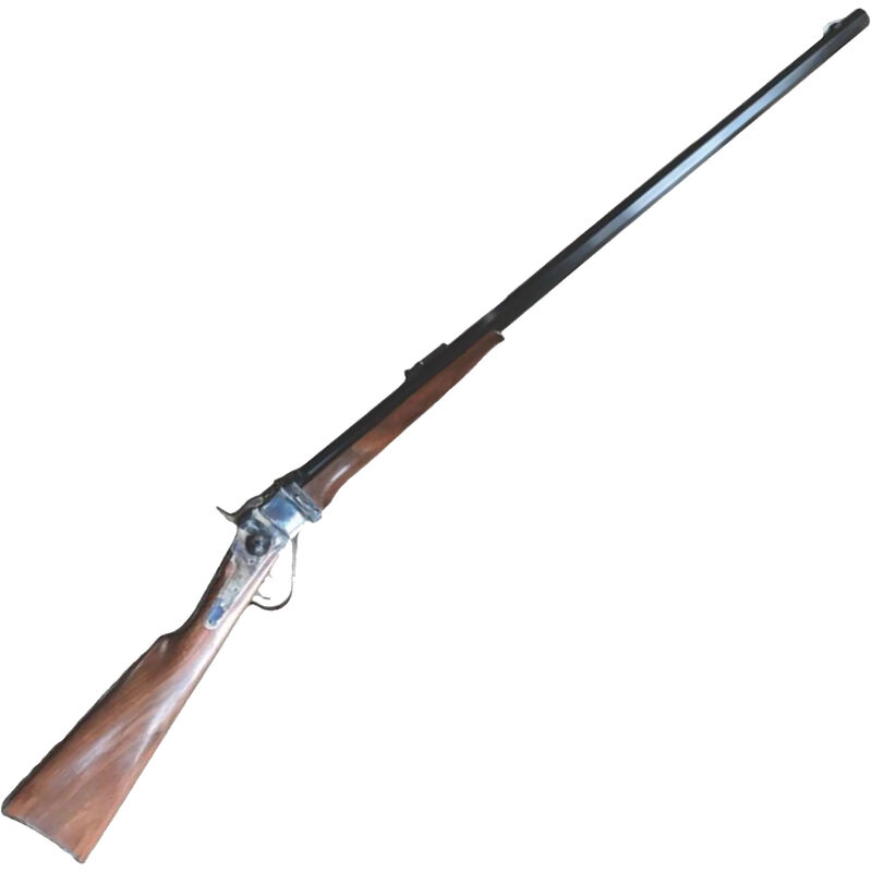 "Cimarron 1874 Sporting Rifle .45-70 Falling Block Rifle 32"" Octagon Barrel 1 Round Double Set Triggers Walnut Stock Color Case Hardened/Blue Finish"