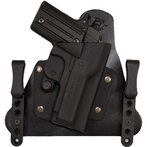 Comp-Tac Cavalry Holster Ruger LC9/LC380 IWB Hybrid Right Handed Leather/Kydex Black