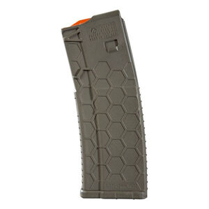 Hexmag Series 2 AR-15 15 Round Magazine/30 Round Body .223 Rem/5.56 NATO/.300 AAC Blackout PolyHex2 Advanced Composite Polymer OD Green