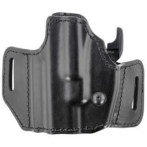 Bianchi 126GLS Assent Holster fits GLOCK 17 and Similar Left Hand Belt Slide Plain Leather with Laminate Liner Black