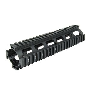 "TacFire AR-15 Two Piece Drop-In Quad Rail Handguard 9"" Mid Length Aluminum Black HG01-9"